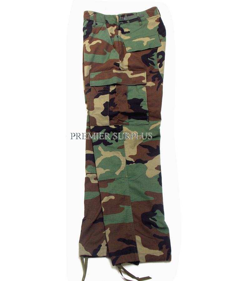 Genuine-US-Army-Issue-Woodland-Camo-BDU-Trousers-Pants-in-New-Condition