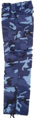 Midnight Blue Camo Trousers, Pants