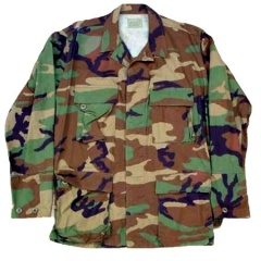 U.S. Army Surplus Woodland Camo Shirt