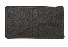 Subdued Black Union Jack Cloth Patch