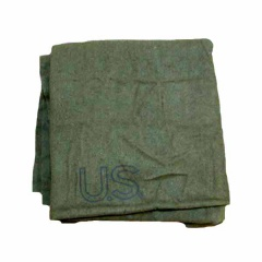 US Army Surplus Olive Drab OD Wool Blanket