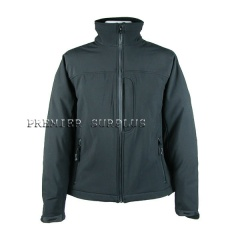 Military Waterproof Windproof Black Softshell Jacket