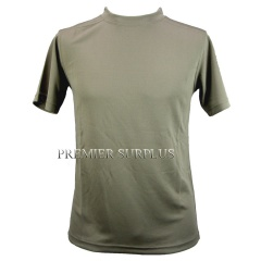 Genuine British Army  Light Olive Coolmax T Shirt, NEW